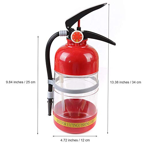 Beer decanter, 2L large capacity beverage dispenser, Fire extinguisher appearance decanter, Suitable for Party family bar