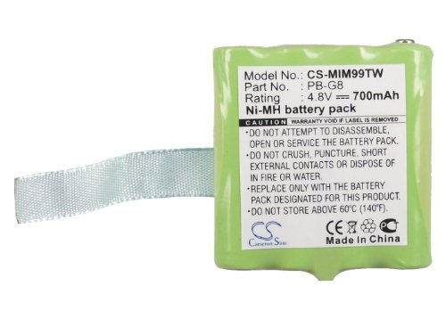 Battery for Midland G8 NI-MH 4.8V 700mAh - PB-G8