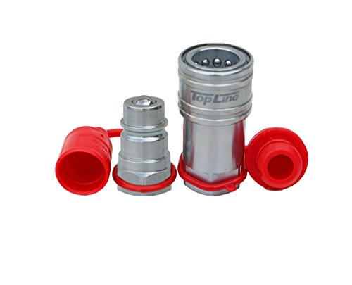 """TL38 1/2"""" NPT Thread Ag Quick Connect Hydraulic Coupler Coupling Ball Style 1/2"""" Body Size Tractor Bobcat Skid Steer Loaders Implements"""