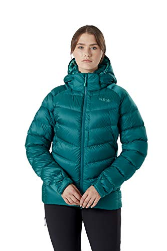 Rab Damen Axion Pro Jacke Wasserabweisend Warm Winter Instulated Daunenjacke Gr. 40, Atlantis