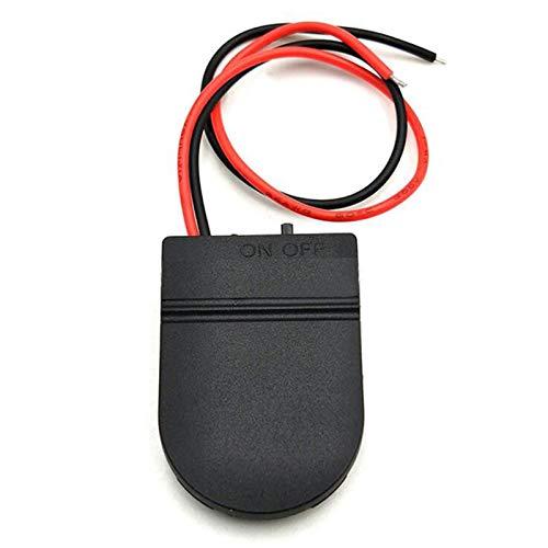 Kirmax 10 / Piezas CR2032 BotóN Cubierta de la Caja del Soporte del ZóCalo de la BateríA de la Celda de Moneda con Interruptor de Encendido y Apagado Caja de BateríA de 3 V