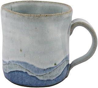 熊本千治(Chiharu Kumamoto) 彩白マグカップ 大 唐津焼 陶器(直径約9cm 高さ約8.8cm)...