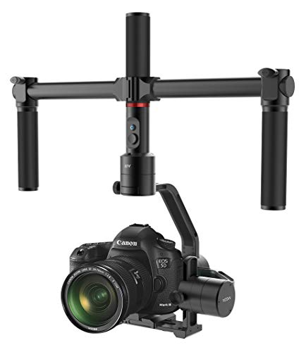MOZA - Estabilizador de Aire de 3 Ejes con Doble empuñadura de Mano y Control de Pulgar inalámbrico para cámaras Entre 1,1lb-5,5lb Sony A7 Series Panasonic GH5 GH4 GH3 BMPCC Canon EOS 5D Mark IV