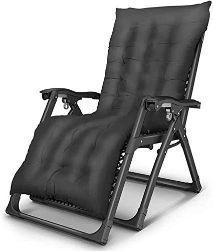 Sillón de Sol Ligero Zero Gravityning, sillón Relajante Plegable con colchón Transpirable, sillón de Cubierta para Playa, Patio, jardín, Camping en Azul (Color: Azul)
