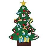 3ft Ensemble d'arbre de Noël en feutre de avec 26 ornements détachables Cadeaux de...
