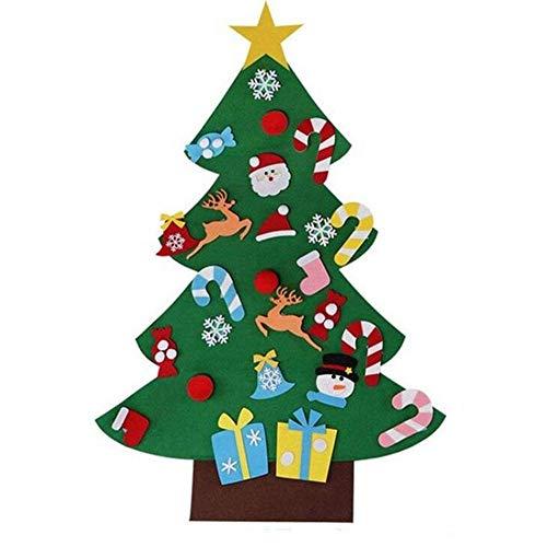 Weihnachtsbaum, Puzzle, Filz, mit abnehmbaren Hängeornamenten, DIY Weihnachtsbäume, Kinderspielzeug, Weihnachten, Party, Heimdekoration, Kinder, Weihnachtsgeschenk, B