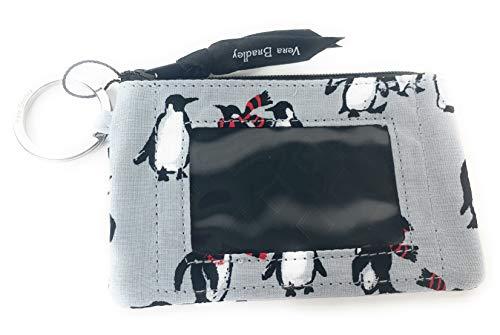 Vera Bradley Zip ID Wallet Gray Playful Penguins