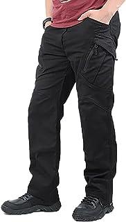 XINSTAR Pantalon cargo long avec poches pour homme - Imperméable - Pour le travail et la randonnée - Respirant - Pour l'ex...