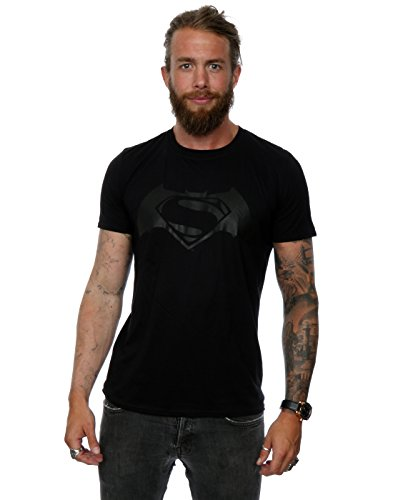 DC Comic Homme Batman v Superman Logo Print T-Shirt Small Noir