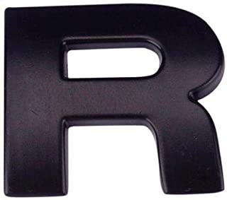 RUNGAO 3D DIY Car Stickers (A-Z&0-9) Metallic Alphabet Emblem Letter Black Decal R