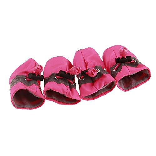 AILOVA 4 x Regenschuhe für Hunde, wasserdicht, für Hunde, Kleinkinder, weiche Schuhe, rutschfeste Sohle und reflektierendes Design für kleine Hunde, Welpen