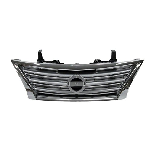 Chrome Front Grille Assembly for 2013-2015 Nissan Sentra NI1200252