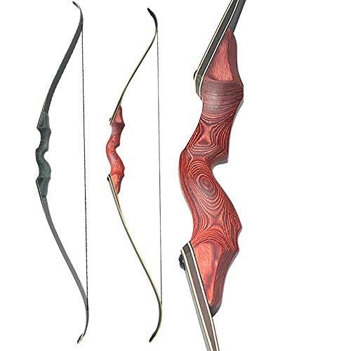 FWL Arco inverso, imitación de Madera de diseño, 30-60Lbs Libras Desmontaje Arco Kit, Entrenamiento al Aire Libre de Disparo para Adultos Principiantes,Gris
