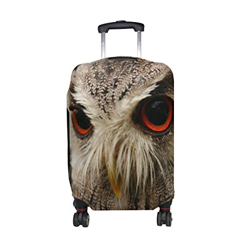 DAFARUYI Luggage Cover Bird Owl Suitcase Protector Cover Elastic Fits 18-32 Inch