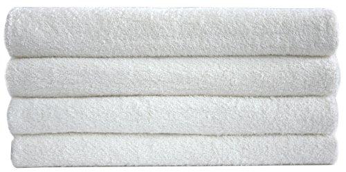 NatureMark NM-HT0721 4-er Spar-Pack Frottier Duschtücher, 70 x 140 cm, 100% Baumwolle, weiß