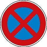 Verkehrszeichen Absolutes Halteverbot Nr. 283 | Ø 420mm, Alu 2mm, RA1 | Original Verkehrsschild nach StVO mit RAL Gütezeichen | Schild Halteverbot | Dreifke®