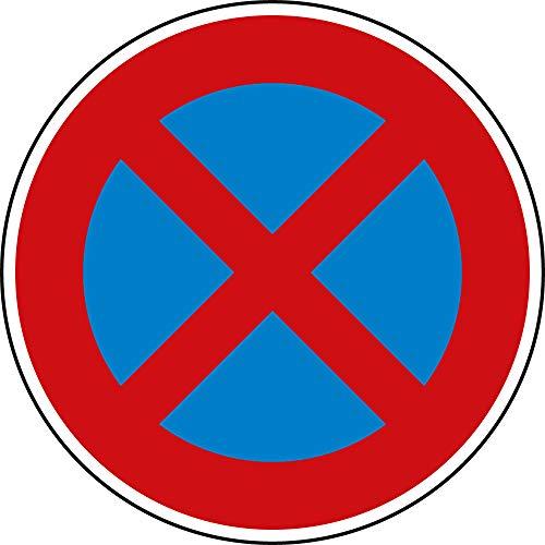 Verkehrszeichen Absolutes Halteverbot Nr. 283 | Ø 600mm, Alu 2mm, RA1 | Original Verkehrsschild nach StVO mit RAL Gütezeichen | Schild Halteverbot | Dreifke®