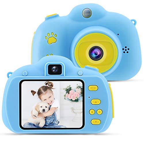 OCDAY Cámara para Niños, Cámara Infantil con Una Pantalla de 2.4 Pulgadas, Tarjeta de Memoria Micro SD 32GB, Un Perfecto Regalo de Cumpleaños, Navidad y El Día del Niño (Azul)
