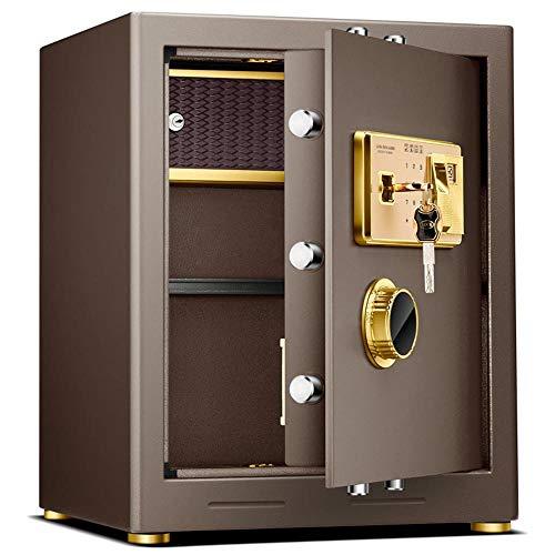 Caja de Seguridad Digital Teclado Digital Bloqueo de Acero sólida Caja de gabinetes for Ministerio del Hotel joyería Efectivo de Almacenamiento Alta Seguridad (Color : Coffee, Size : 50x41x35.5cm)