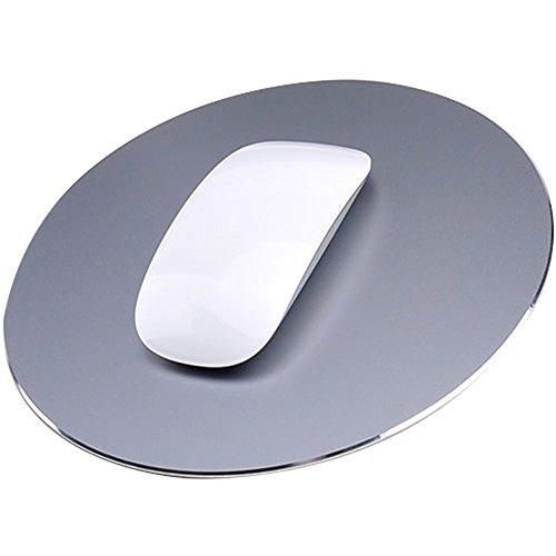 Delmkin Unisex-Youth, Grau-220220mm, Mauspad Aluminium Pad Laptops Mouse Pad-220220mm (Grau)