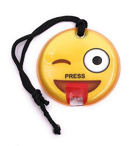 H-Customs Smiley mit LED und Magnetisch Schlüsselanhänger Schlüsselband Magnet Zunge Raus