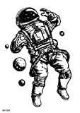 Brazo De Astronauta Fantasía Negro 15x21cm-5Pcs Cool Full Arm Animals Adultos Pegatinas Falsas Art Sticker Cover Up Set Suministros No Tóxicos E Impermeables Para Niños Niñas Adultos