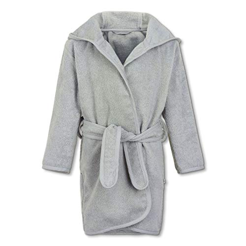 pippi Organic Bath Robe Cache-Maillot de Bain, Gris Clair, 98D Mixte Enfant