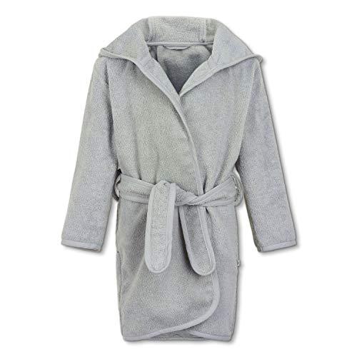Pippi Unisex-Child Organic Bath Robe Swimwear Cover Up, Hellgrau, 98D