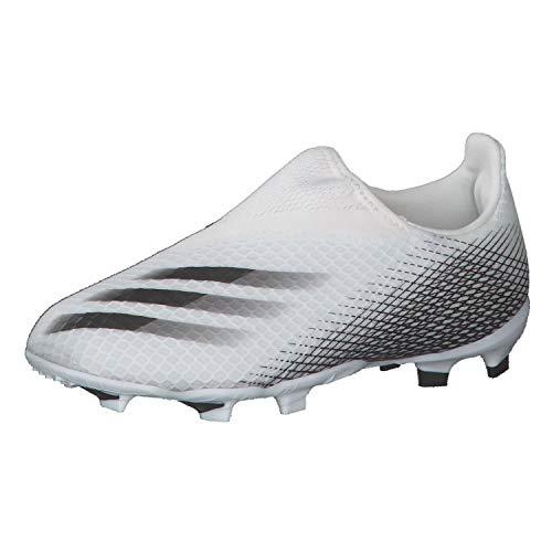 adidas Unisex-Kinder X GHOSTED.3 LL FG J Fussballschuh, Ftwbla/Negbás/Ftwbla, 34 EU