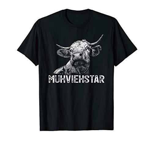 Lustiges Landwirt T-Shirt - Muhviehstar Kuh Kühe Rindvieh