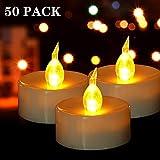 HANZIM LED Kerzen, 50 PACK LED Teelichter Kerzen...
