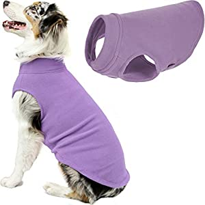 Gooby Stretch Fleece Dog Vest – Lavender, 5X-Large – Pullover Fleece Dog Sweater – Warm Dog Jacket Dog Clothes Sweater Vest – Dog Sweaters for Small Dogs to Large Dogs for Indoor and Outdoor Use