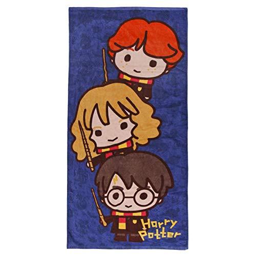 Cerdá - Toalla de Playa de Harry Potter para Niños con Licencia Oficial Warner Bros