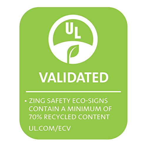 ZING 1885S Zing Safety Sign, Fire Extinguisher with Arrow, 14