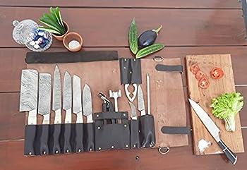 Sac de transport en cuir véritable pour couteaux de chef KB001