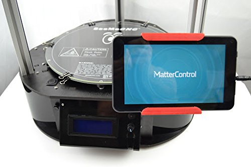 SeeMeCNC Rostock Max V2 Delta 3D Printer Kit Black with MatterControl Touch Controller