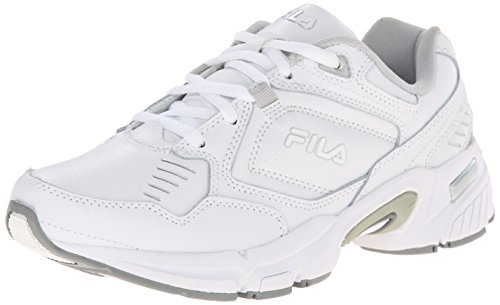 Fila Women's Memory Comfort Training Shoe, White/White/Metallic Silver, 5 M US