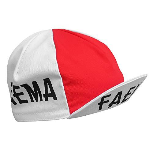 Eddy Merckx Faema - Gorra de ciclismo retro, color rojo y blanco