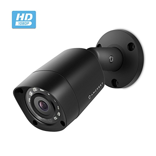 Amcrest Full HD 1080P 1920TVL Bullet Outdoor Security Camera (Quadbrid 4in1 HD-CVI/TVI/AHD/Analog), 2MP 1920x1080, 98ft Night Vision, Metal Housing, 3.6mm Lens 90° Viewing Angle, Black (AMC1081BC36-B)