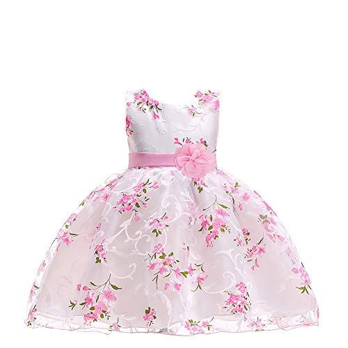 Vestido de novia para nios con estampado rosa