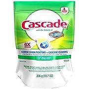 Cascade ActionPacs Dishwasher Detergent with Extra Bleach Action, Lemon Scent, 17-Count