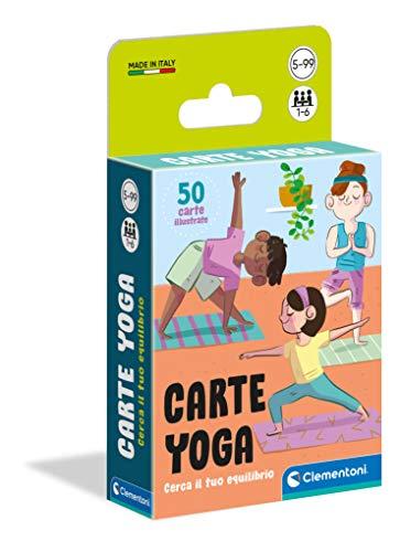 Clementoni Yoga-mazzo, carte bambini, tavolo, gioco di società per tutta la famiglia, 1-6 giocatori, 5 anni+, Made in Italy, Multicolore, 16300