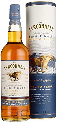 The Tyrconnell 10 Jahre Sherry Finish Irish Single Malt Whiskey, mit Geschenkverpackung, 46% Vol, 1 x 0,7l