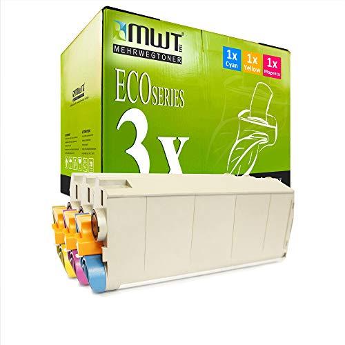 3X MWT Druckerpatronen für Oki 7411 ES7411DN ES7411WT ES7411 7411WT ersetzt Color
