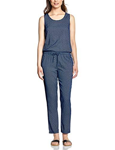 CECIL Damen 372364 Jumpsuit per pack Mehrfarbig (deep blue 30128), X-Large (Herstellergröße:XL)