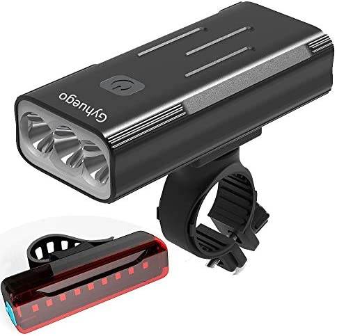 Gyhuego Bike Light USB Rechargeable 4000 Lumen Bicycle Lights Front and Back Bright Led Bike product image