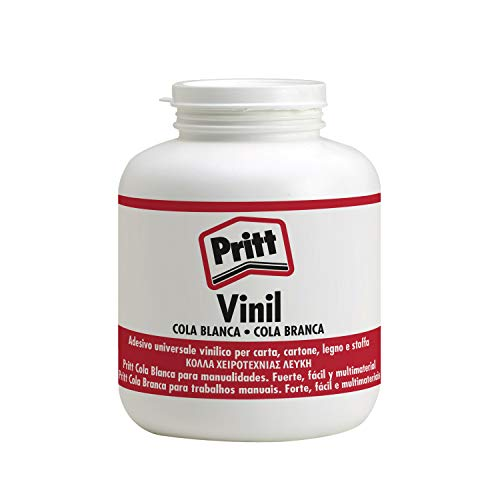 Pritt Cola Blanca, pegamento líquido blanco para casa o como material escolar, cola universal segura para los niños, cola vinílica blanca para múltiples materiales, 1 kg