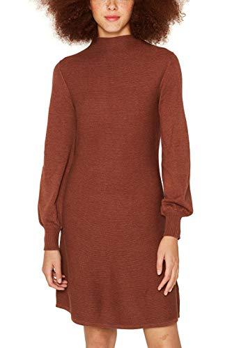edc by ESPRIT Damen 099CC1E031 Kleid, Braun (Rust Brown 5 224), Medium (Herstellergröße: M)