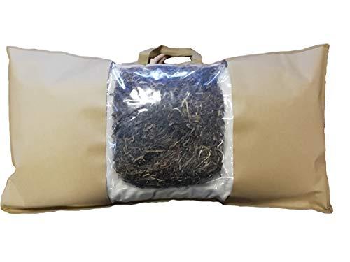 Speltex Bio Kopfkissen - 40 x 80 cm - Seegras Dinkel Hirse Dinkelspelzen - 4 natürliche Füllstoff-Varianten (40 x 80 cm, Seegras)