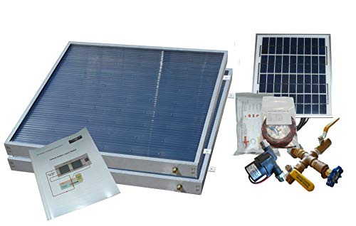 2 Panel Standard SW-38 Hybrid Solar Water Heater Kit- Single Row Installation